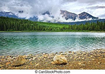 Mountain lake in Jasper National Park