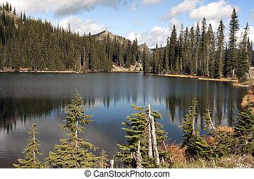 Mountain Lake in Kootenay Pass Sumit, British Columbia, Canada