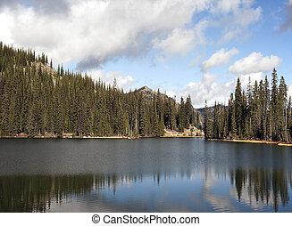 Mountain Lake in Kootenay Pass Sumit