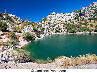Mountain lake in Mallorca