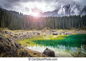 Mountain lake in National Park
