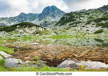 Mountain lake in Retezat, Romania, Europe