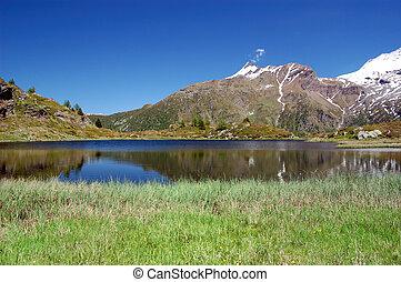 mountain lake in Switzerland