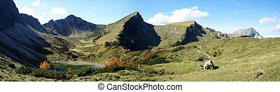 Mountain lake in the Allgaeu Alps