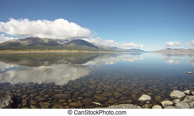 Mountain lake Khoton Nuur in Mongol