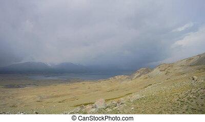 Mountain lake Khoton Nuur