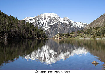 Mountain lake, Pyrenees
