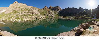 Mountain Lake Reflection Panorama