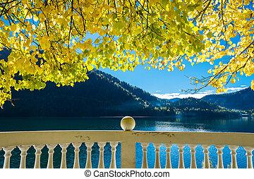 Mountain lake Ritsa.