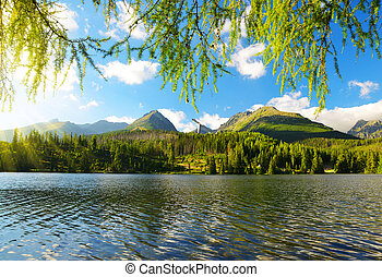 Mountain lake Strbske pleso, Slovakia