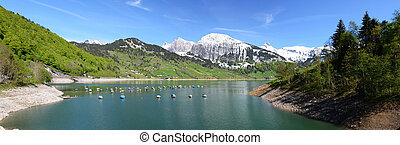 Mountain lake. Switzerland
