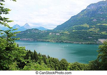 Mountain lake Switzerland