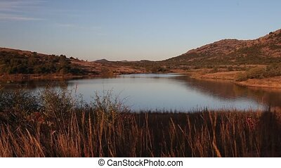Mountain lake - This is a lake in the Wichita Mountains.