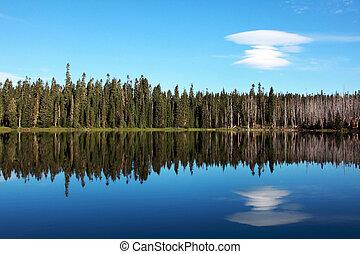 Mountain Lake with Cloud
