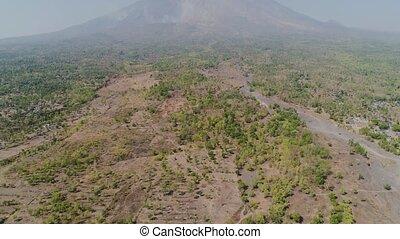 mountain landscape Agung volcano, Bali, Indonesia - Aerial...