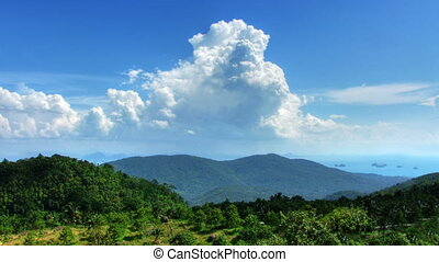 Mountain landscape and clouds