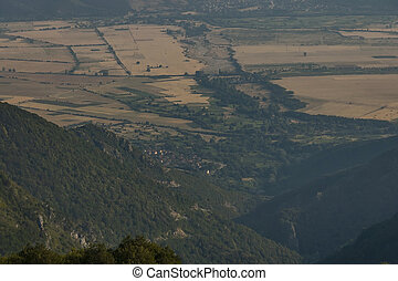 Mountain landscape at Central Balkan mountain, Beklemeto or Trojan pass, Stara Planiana, Bulgaria