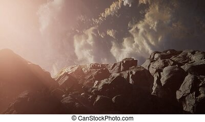 Mountain landscape at sunset. Amazing view from the mountain...