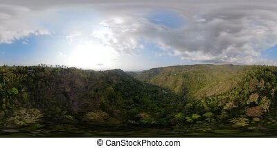 Mountain landscape Bali, Indonesia. vr360 - vr360 tropical...