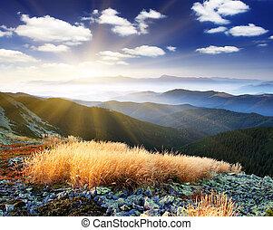 mountain landscape - Beautiful mountains landscape and...