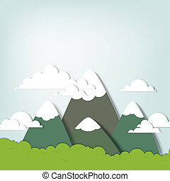 Mountain landscape. creative vector applique.