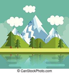 Mountain landscape design