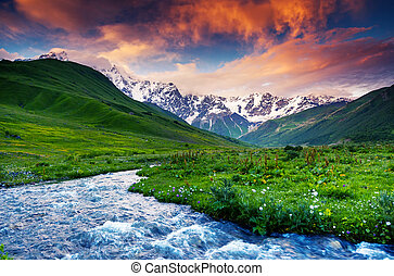 mountain landscape - Fantastic landscape and colorful ...