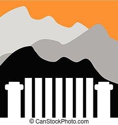 Mountain Landscape Fence