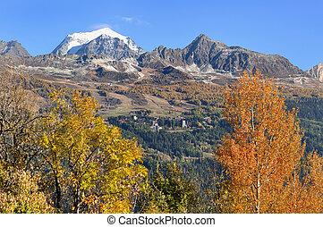mountain landscape in autumn