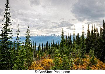 Mountain landscape in Canada