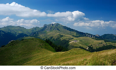 Mountain landscape in Carpathians, Romania