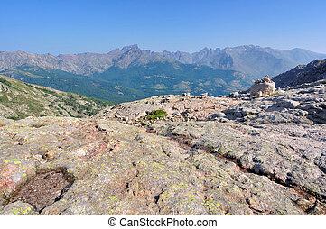 mountain landscape in Corsica