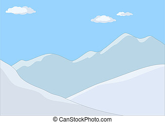 Mountain landscape in day - Landscape: the mountains covered...