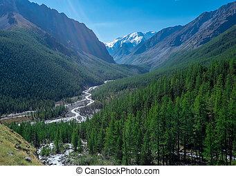 mountain landscape in fine weather