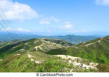 Mountain landscape in Hong Kong
