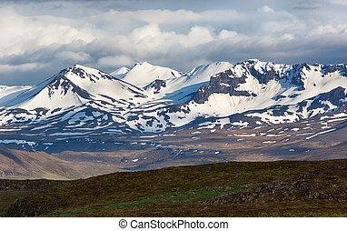 Mountain landscape in Iceland.