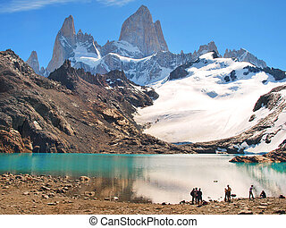 Mountain landscape in Patagonia - Mountain landscape with Mt...