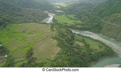 Mountain landscape in Philippines, Luzon. - Aerial view...