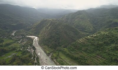 Mountain landscape in Philippines, Luzon. - Aerial view of...