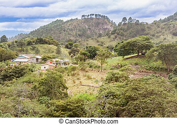 Mountain landscape in remote areas of Honduras - Picturesque...
