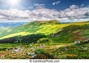 Mountain landscape in summer - Chorna hora mountain range....