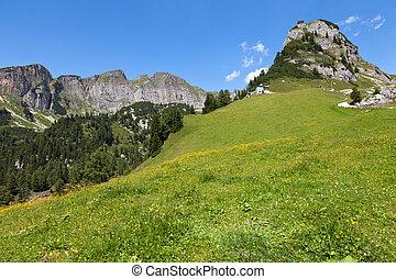 mountain landscape in the Alps, Austria