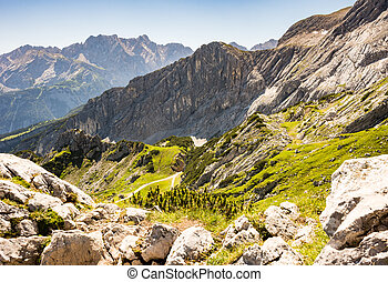 Mountain landscape in the alps of Bavaria