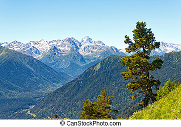 Mountain landscape in the Caucasus, Arkhyz, Russia