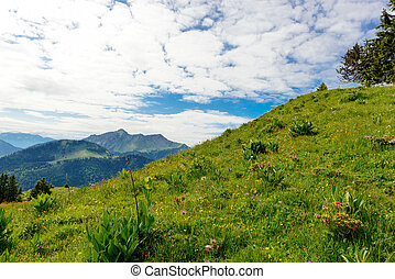 mountain landscape in the French Alps