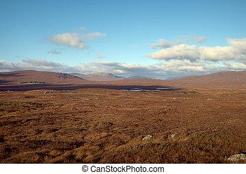 Mountain landscape in the Glencoe area in Scotland