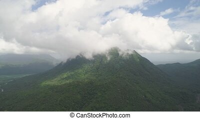 Mountain landscape in the Philippines. - Aerial view...