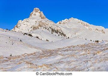 mountain landscape in winter