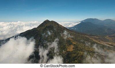 Mountain landscape Jawa island, Indonesia. - Mountain ridge...