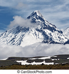 Mountain landscape: Kamen Volcano on Kamchatka Peninsula